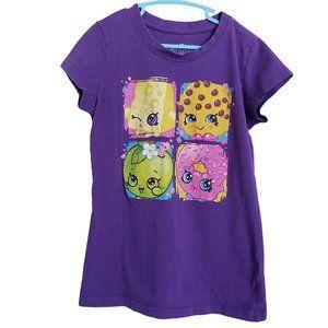 SHOPKINS Purple Short Sleeve T Med (IMO)